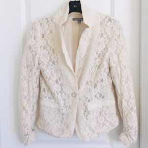 Ny collection cotton net lined jacket size medium
